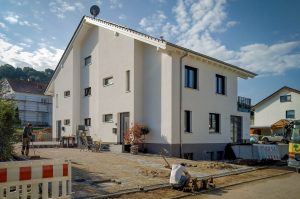 Projektbild Neubau Doppelhaus in Karlsruhe
