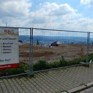 Erste Eindrücke im Mai 2018 von unserer neuen Baustelle in Pforzheim.