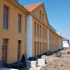 Ansicht von Osten mit Balkonfundamenten